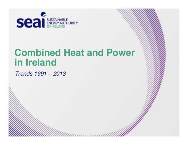 Combined Heat and Power  in Ireland  Trends 1991 – 2013