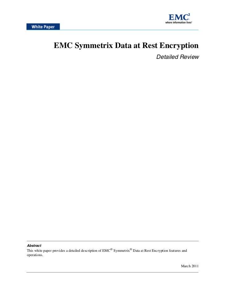 EMC Symmetrix Data at Rest Encryption                                                                                    D...