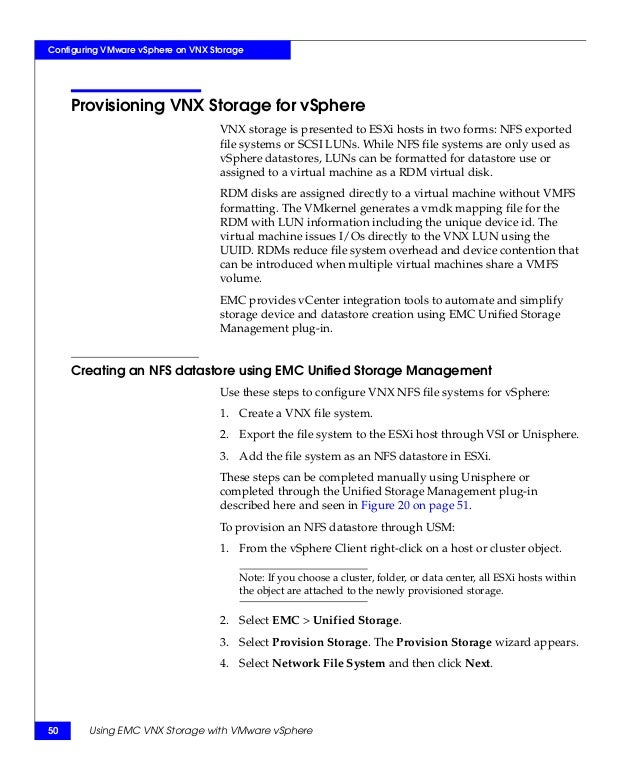 TechBook: Using EMC VNX Storage with VMware vSphere