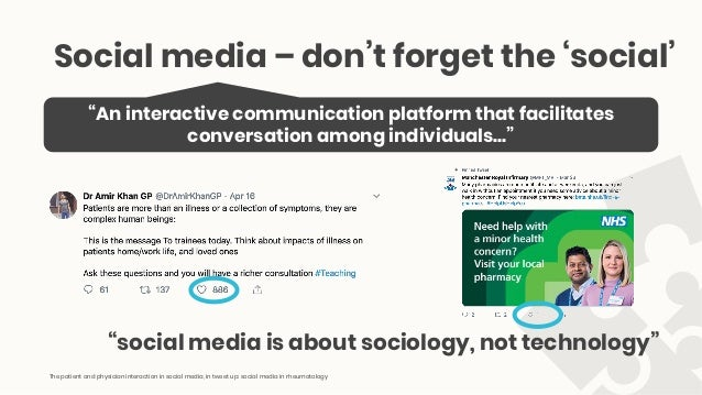 The patient and physician interaction in social media Slide 2