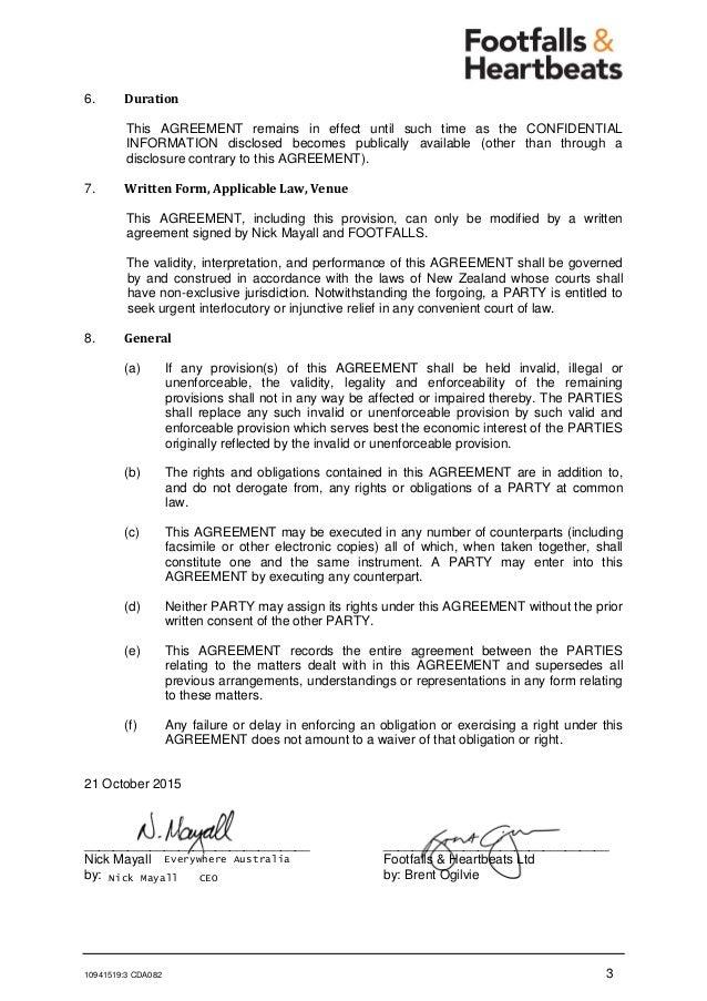 Cda Fhl Confidentiality Agreement Mutual  Nick Mayall Generic