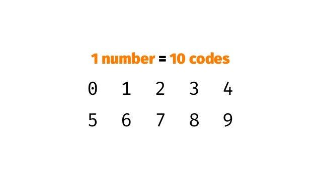 Sparse usage of codes!