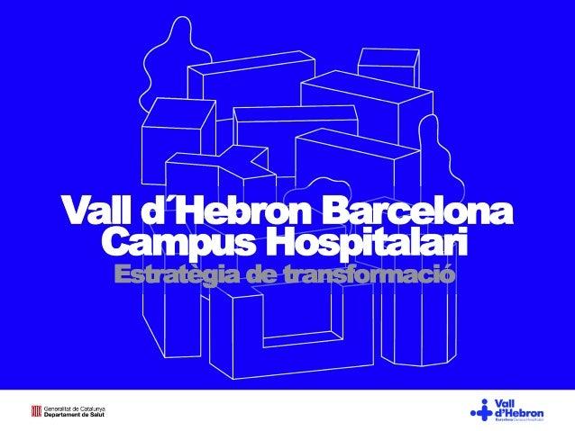 Visió i estratègia per a la transformació del recinte de l'Hospital Vall d'Hebron
