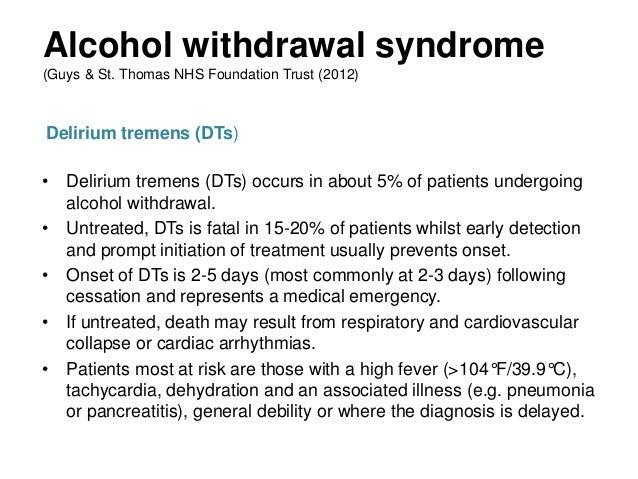 delirium tremens diagnos