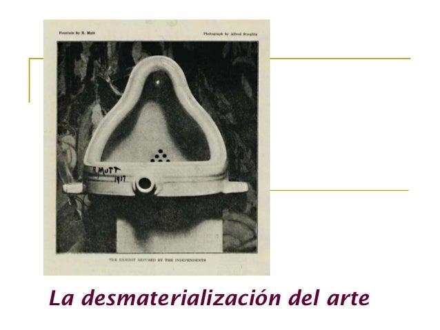 La desmaterialización del arte