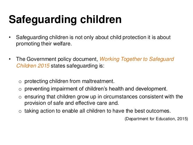 understanding how to safeguard children and Do you know what the warning signs of child abuse are learn how to recognize, prevent and report child abuse  discusses concrete tips on how to protect children .