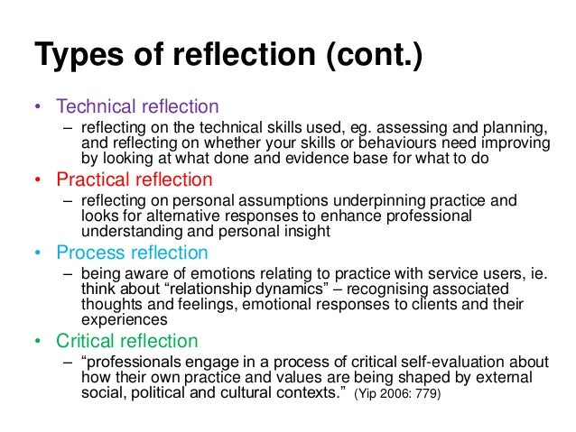 reflection of values in practice Whilst understandings and practice of reflection may show some commonality across a range of disciplines and contexts,  and values about reflection,.