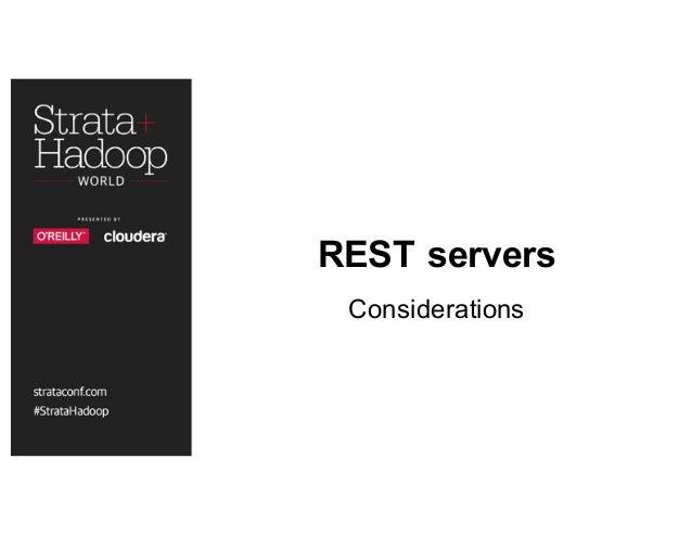 REST servers Considerations