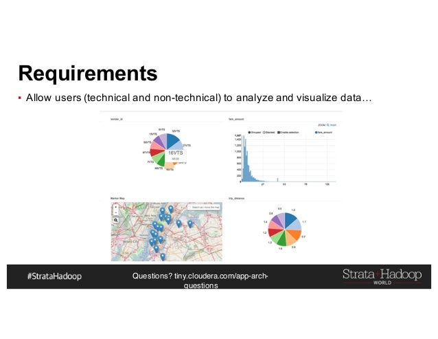 Questions? tiny.cloudera.com/app-arch- questions Requirements ▪ Allow users (technical and non-technical) to analyze and v...