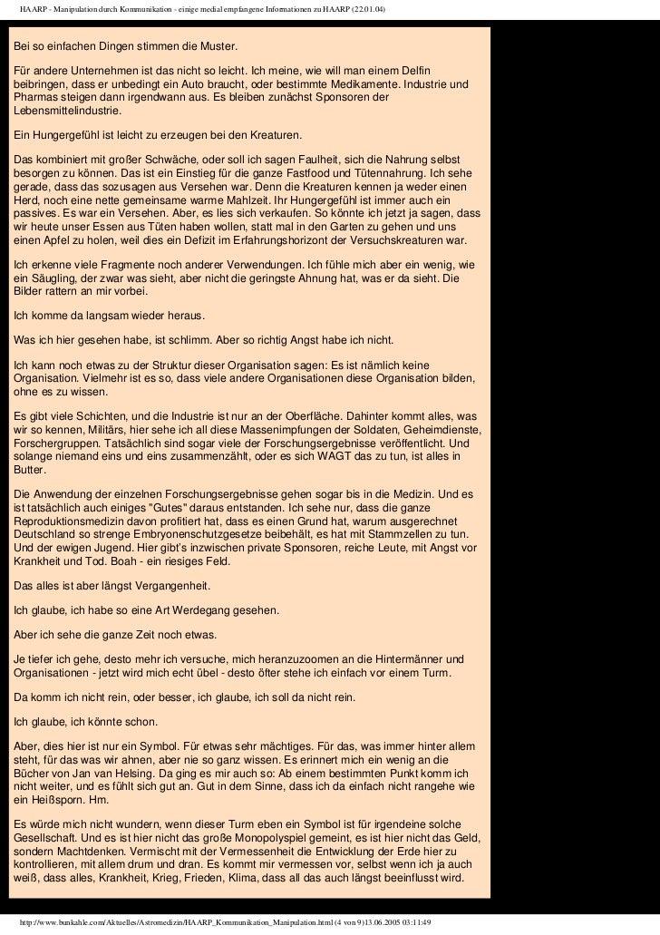 HAARP - Manipulation durch Kommunikation - einige medial empfangene Informationen zu HAARP (22.01.04)Bei so einfachen Ding...