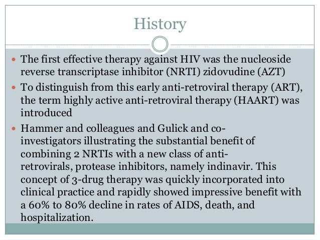 Highly active antiretroviral therapy Slide 3