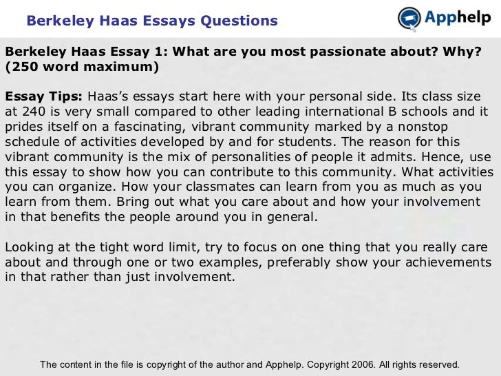 Berkeley Haas MBA Admissions   Related Blogs   Haas    Berkeley Haas Essays