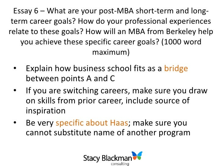 Calling Haas Berkeley  Applicants      Intake  Class of        Haas  Haas mba essay questions