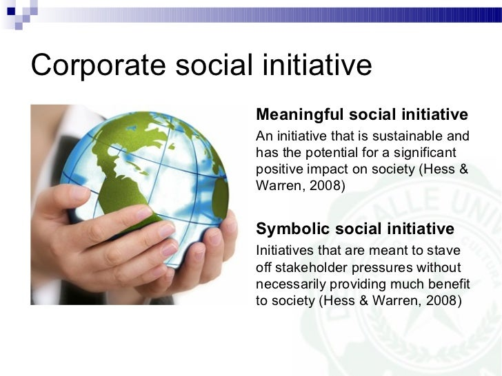 walmart does the organization have a social initiative if so what is it The business case for corporate social international journal of management reviews see csr initiatives in virtually all the developed.