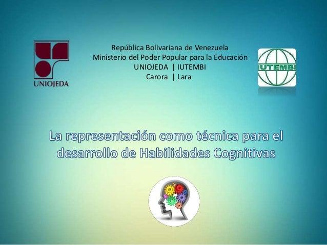 República Bolivariana de Venezuela  Ministerio del Poder Popular para la Educación  UNIOJEDA | IUTEMBI  Carora | Lara