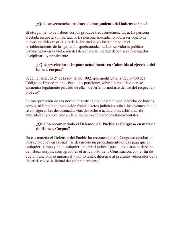 habeas corpus colombia pdf