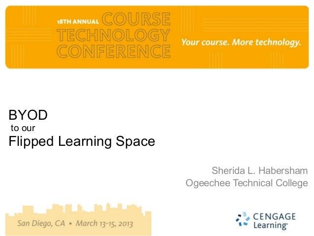 BYODto ourFlipped Learning Space                              Sherida L. Habersham                         Ogeechee Techni...
