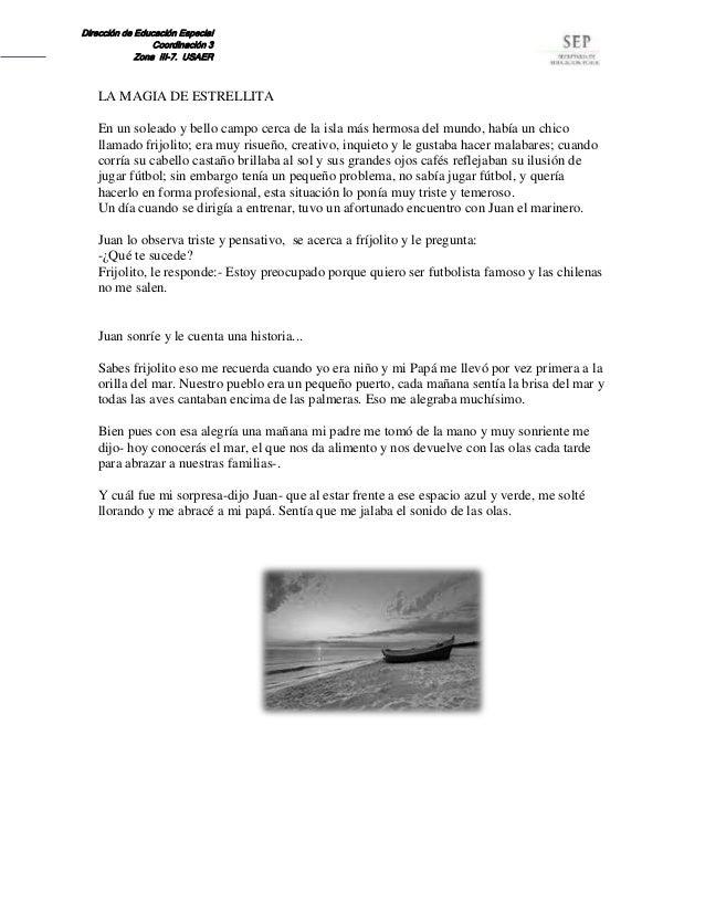 Dirección de Educación Especial Coordinación 3 Zona III-7. USAER LA MAGIA DE ESTRELLITA En un soleado y bello campo cerca ...