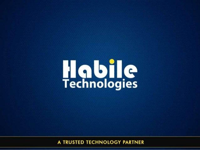 Habile technologies Corporate Presentation