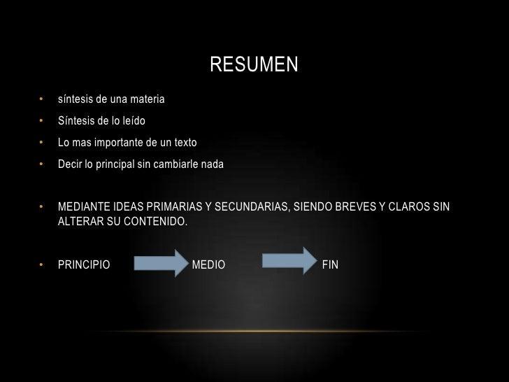 TIPOS DE RESUMEN                   indicativo                                      Indicativo-informativo                 ...