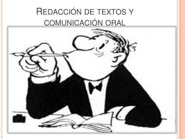 REDACCIÓN DE TEXTOS Y COMUNICACIÓN ORAL