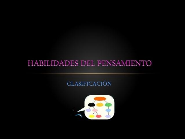 CLASIFICACIÓN