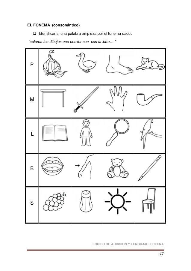 Material Para Trabajar Las Habilidades Fonológicas Creena
