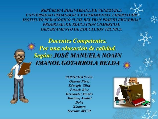 "REPÚBLICA BOLIVARIANA DE VENEZUELA  UNIVERSIDAD PEDAGÓGICA EXPERIMENTAL LIBERTADORINSTITUTO PEDAGÓGICO ""LUIS BELTRÁN PRIET..."