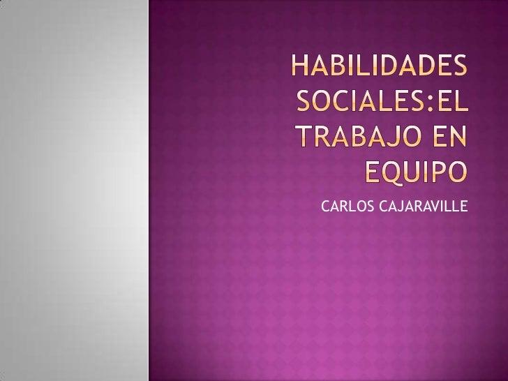 CARLOS CAJARAVILLE