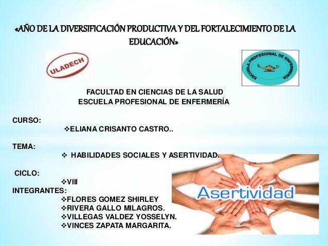 «AÑO DE LA DIVERSIFICACIÓNPRODUCTIVAY DEL FORTALECIMIENTO DE LA EDUCACIÓN» FACULTAD EN CIENCIAS DE LA SALUD ESCUELA PROFES...