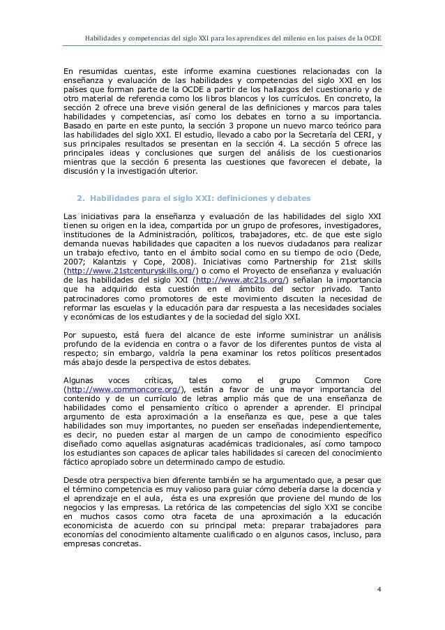 Habilidades y competencias del siglo xxi para los for 4 milenio ultimo programa