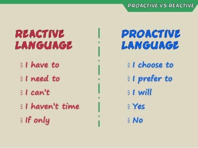 Habit #1 - Be Proactive