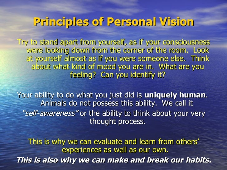 habit 1 be proactive essay Habit 1 : be proactive the habit of personal vision according to covey, this habit reflects our innate ability to take charge of our lives we are not simply products of in-grained stimulus- response reflexes.