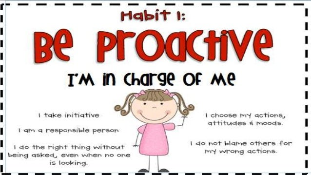 Image result for be proactive habit 1