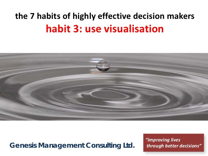 "the 7 habits of highly effective decision makers         habit 3: use visualisation                                     ""i..."