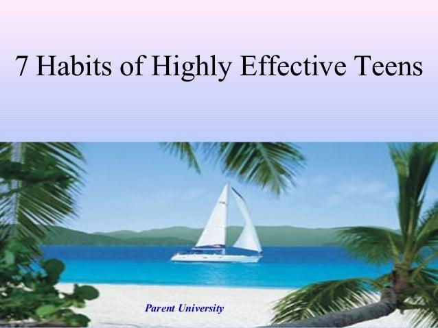 7 Habits of Highly Effective Teens Parent University