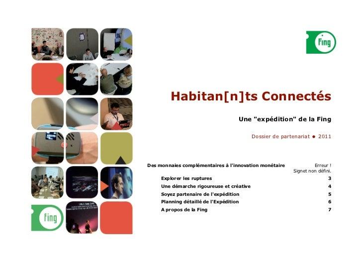 """Habitan[n]ts Connectés                                     Une """"expédition"""" de la Fing                                    ..."""