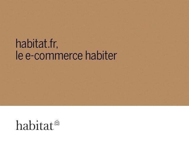 habitat.fr, le e-commerce habiter