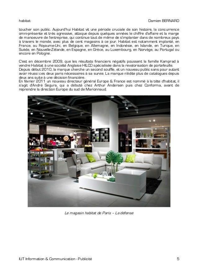 M moire habitat communication 2011 for Reputation meubles concept