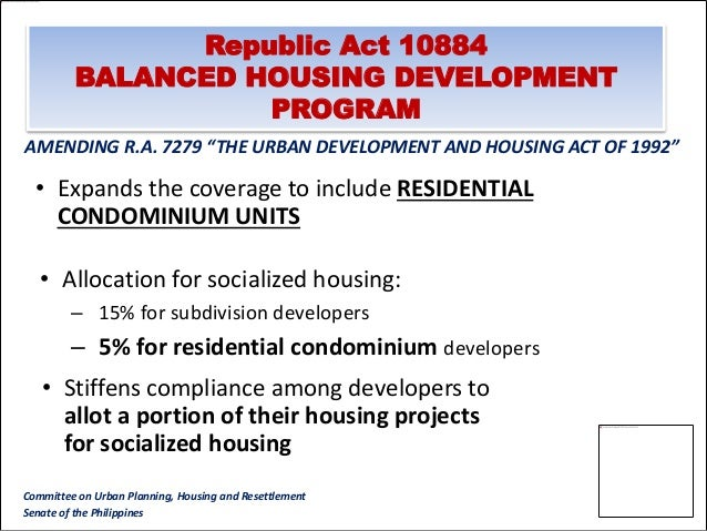 National Updates.  Resettlement and Basic Services: South and ...