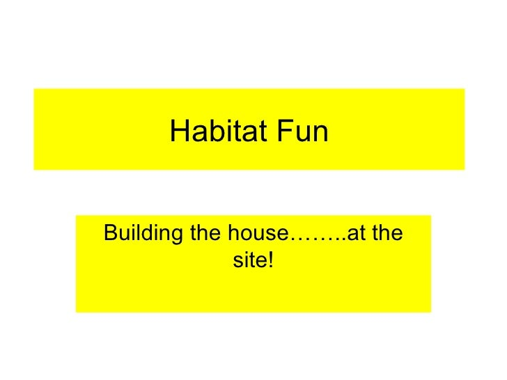 Habitat Fun Building the house……..at the site!