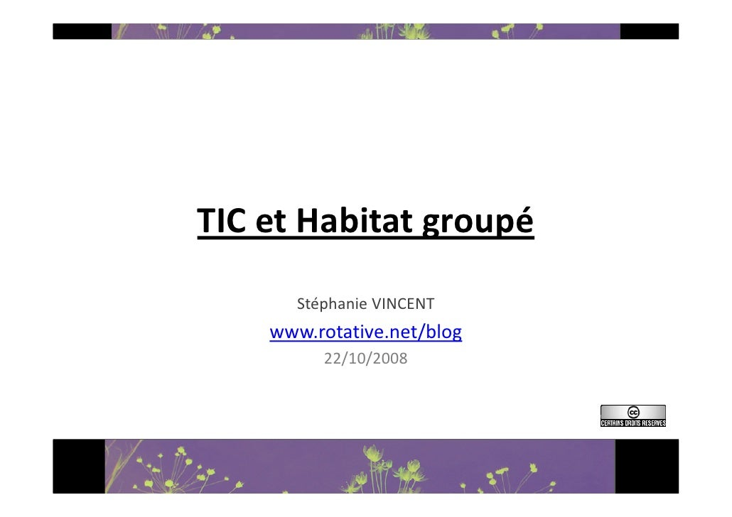 TICetHabitatgroupé        StéphanieVINCENT     www.rotative.net/blog           22/10/2008