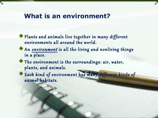 Habitats for plants and animals Slide 2
