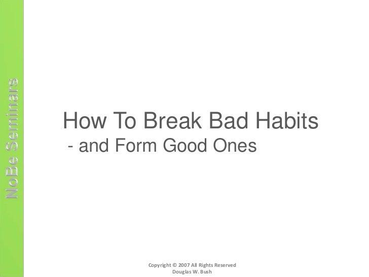 my bad habits essay