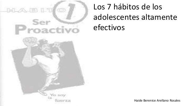 Haide Berenice Arellano Rosales Los 7 hábitos de los adolescentes altamente efectivos