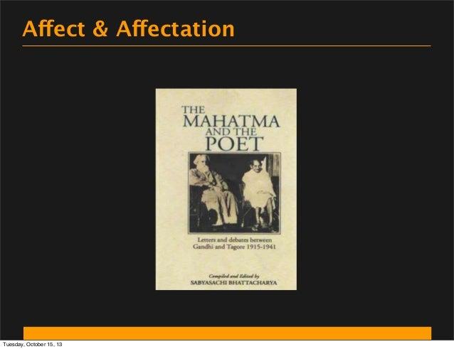 Affect & Affectation  Tuesday, October 15, 13
