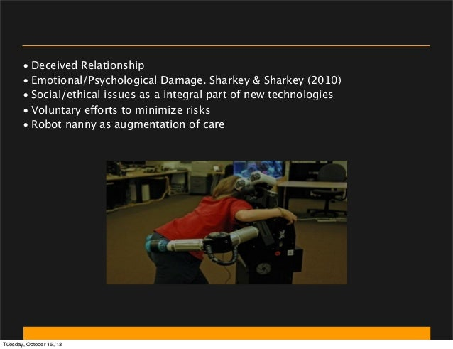 • Deceived Relationship • Emotional/Psychological Damage. Sharkey & Sharkey (2010) • Social/ethical issues as a integral p...