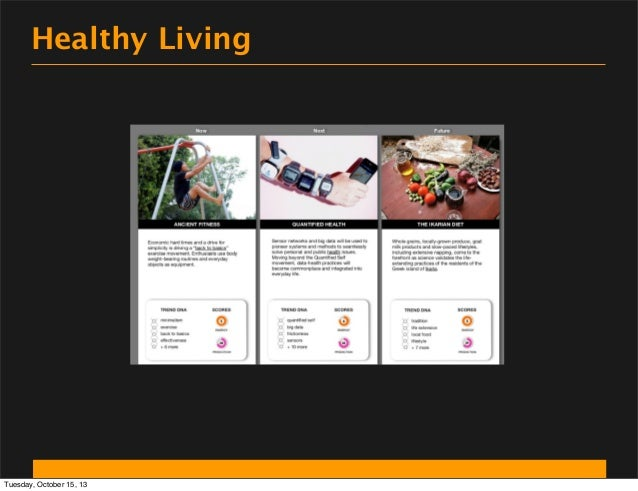 Healthy Living  Tuesday, October 15, 13