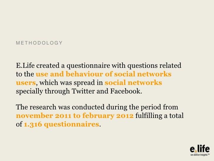 Behavioral habits in the use of Social Media by Brazilian users - 2012 Slide 3