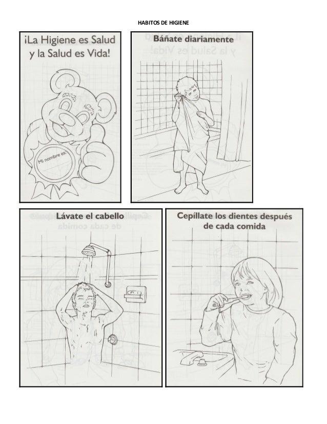 Habitos de higiene -Album para Colorear